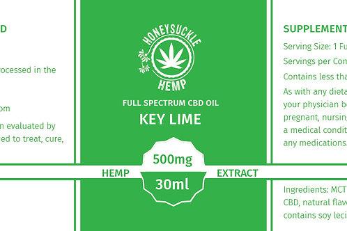 Honeysuckle Hemp Full Spectrum 500mg CBD Oil