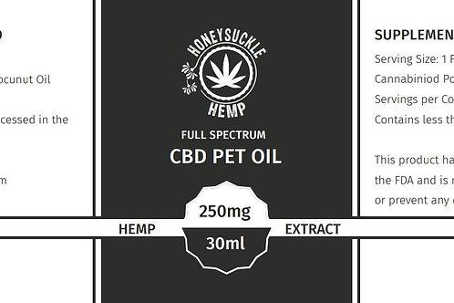 Honeysuckle Hemp Full Spectrum CBD Oil for Cats and Dogs 250ml