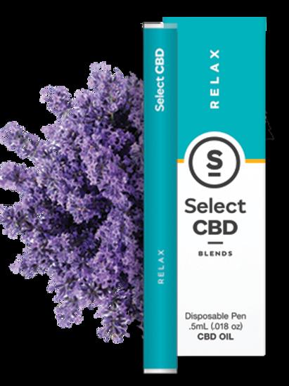Select CBD Blends Lavender with Essential Oils and CBD Disposable Vape Pen