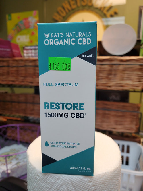 Kat's Naturals Restore 1500mg 30ml Full Spectrum CBD Oil
