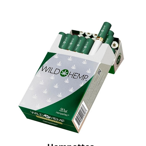 Wild Hemp (Regular Hemp Flavor) Cigarettes 20 per pack- with THC TWO PACK BUNDLE