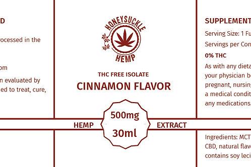 Honeysuckle Hemp Co. Non THC 500mg Cinnamon