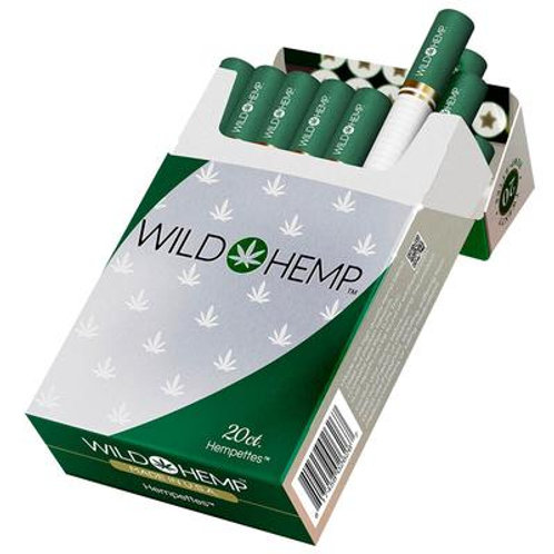 Wild Hemp Regular Hemp Flavor Cigarettes 20 per pack- withTHC TWO PACK BUNDLE