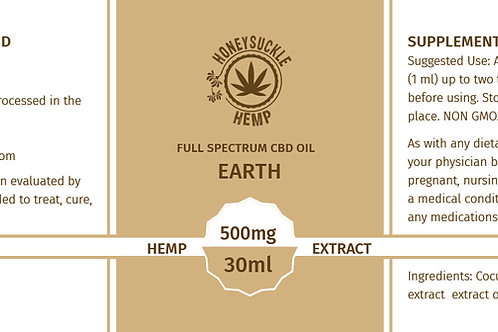 Honeysuckle Hemp Earth 500mg Full Spectrum CBD Oil