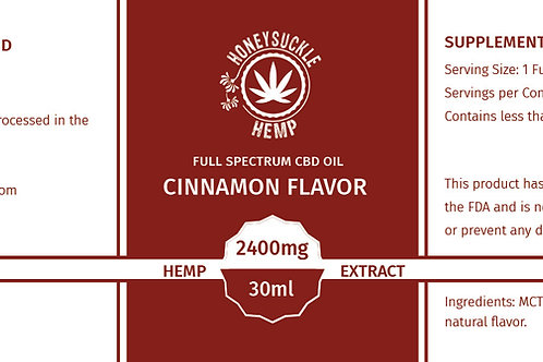Honeysuckle Hemp Full Spectrum 2400mg Cinnamon