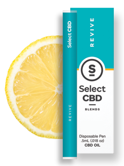 Select CBD Blends Lemon with Essential Oils and CBD Disposable Vape Pen