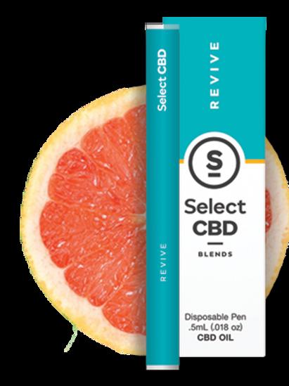 Select CBD Blends Grapefruit with Essential Oils and CBD Disposable Vape Pen