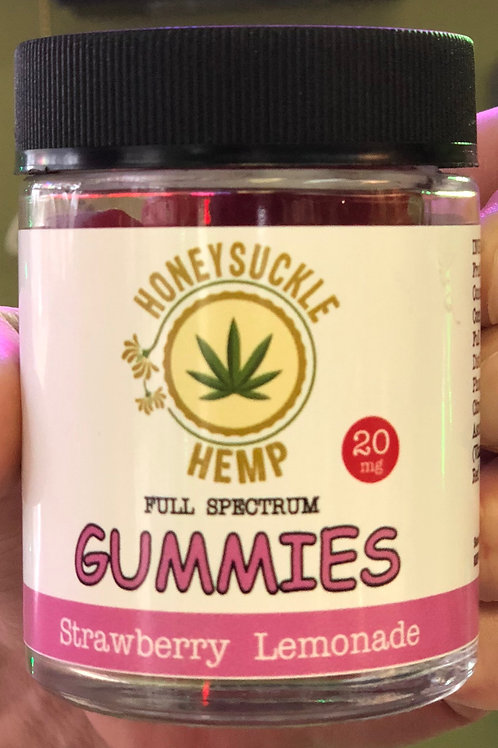 Honeysuckle Hemp Full Spectrum Gummies Strawberry Lemonade 20mg 30 count