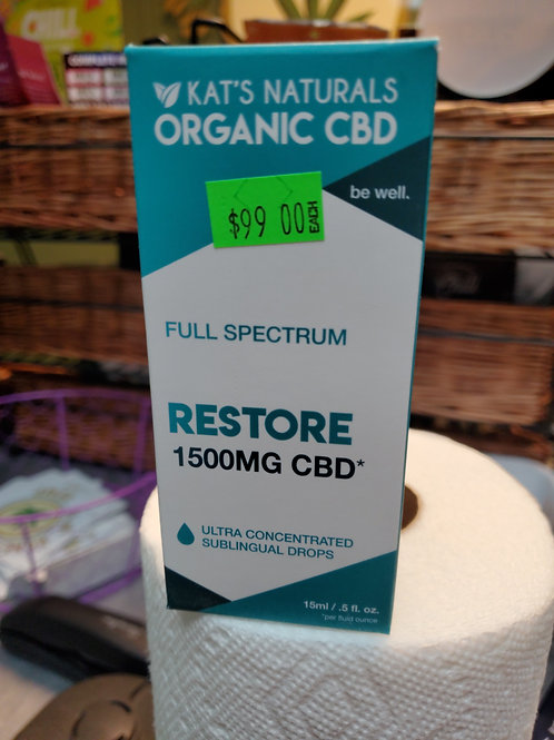 Kat's Naturals Restore 1500mg 15ml Full Spectrum CBD Oil