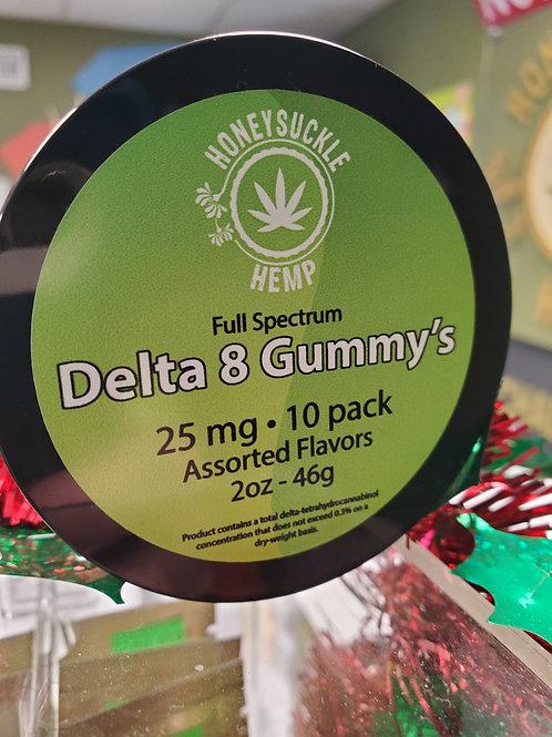Delta 8 Gummies 10 ct. 25 mg per gummy