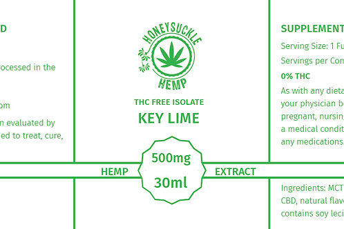Honeysuckle Hemp Non-THC 500mg CBD Oil