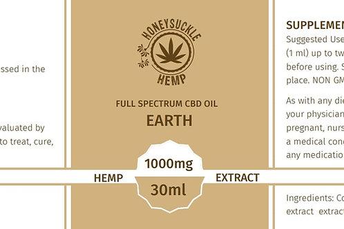"""Honeysuckle Hemp Full Spectrum CBD Oil """"EARTH"""" 1000mg"""