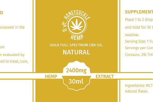 Honeysuckle Hemp Full Spectrum 2400mg CBD Oil Natural