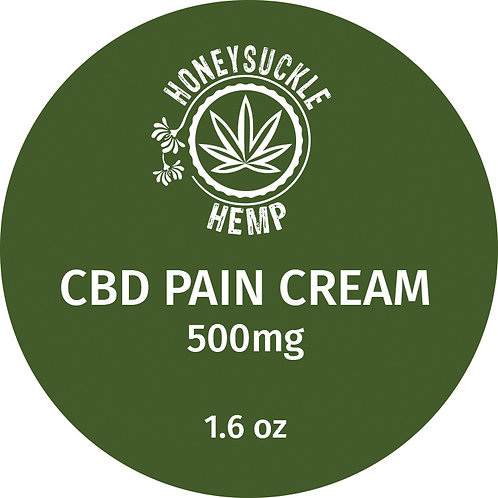 Honeysuckle Hemp Full Spectrum 500mg CBD Pain Cream 1.6 oz