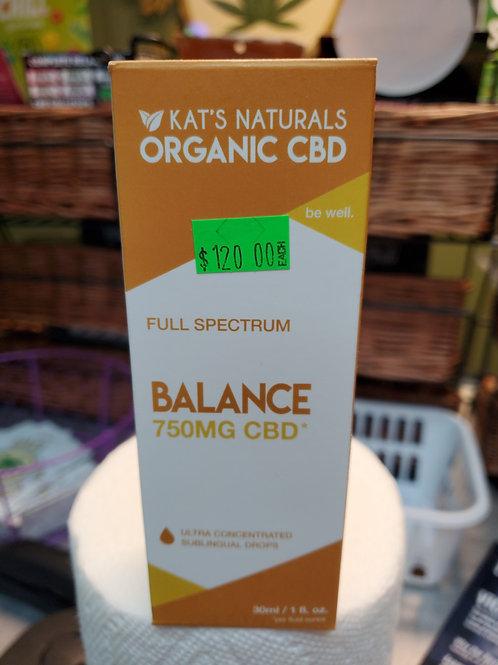 Kat's Naturals Balance 750mg 30ml Full Spectrum CBD Oil