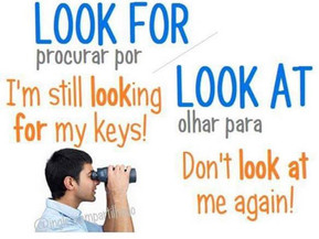 LOOK FOR  X  LOOK AT