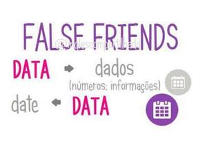 False friends: DATA  X  DATA