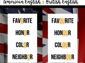 Inglês britânico x americano: diferenças na escrita.
