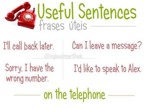 Useful sentences - On the telephone