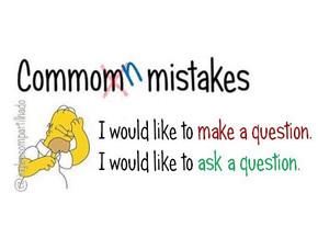 Make a question x Ask a question - qual o correto?