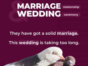 """DIFERENÇA DE """"MARRIAGE"""" E """"WEDDING"""""""