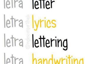 """As diferentes traduções para """"LETRA"""""""