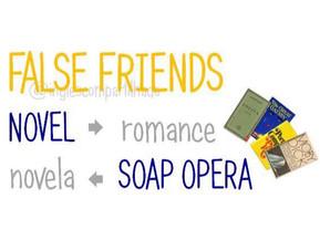 False friends: NOVEL x NOVELA