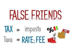 False friends: TAX x TAXA