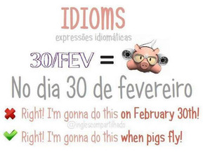 "Idioms: ""When pigs fly"""