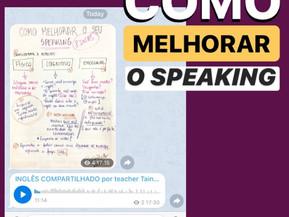 COMO MELHORAR O SPEAKING?