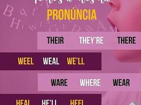 4 grupos de palavras com pronúncias iguais