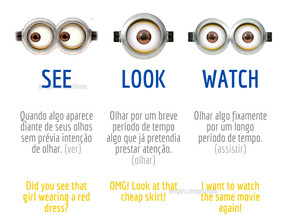 SAIBA COMO USAR: SEE, LOOK E WATCH