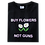 Thumbnail: 'Buy Flowers Not Guns' T-Shirt - Black