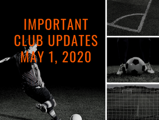 Important Club Updates - May 1, 2020