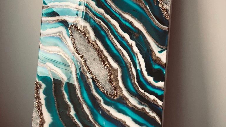 Geode Resin Art  2x4 ft