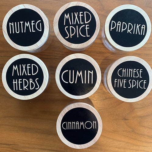 SPICE LABELS - 5cm Circle