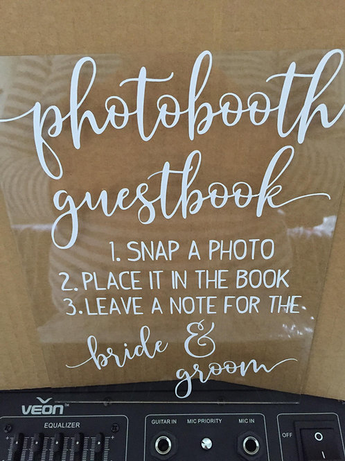 Guestbook sign (DECAL ONLY)