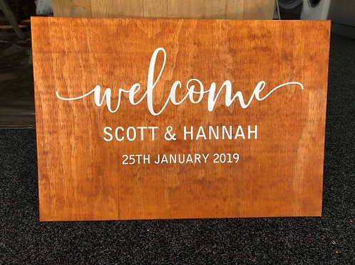 Welcome wedding sign (DECAL ONLY)