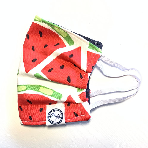 3 LAYER COTTON MASK | Watermelon