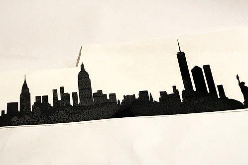NY Skyline Laptop Decal