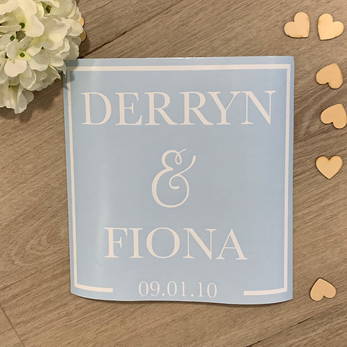 Wedding signage (DECAL ONLY)