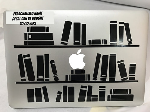 Bookcase Laptop Decal