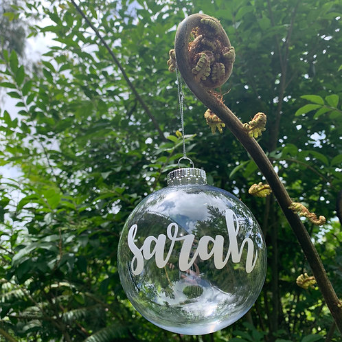 Christmas Name Baubles