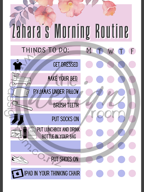 ROUTINE CHART - Floral