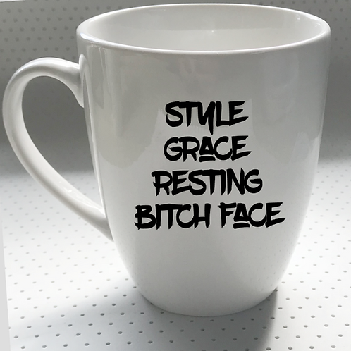 Style, Grace, Resting Bitch Face | DECAL