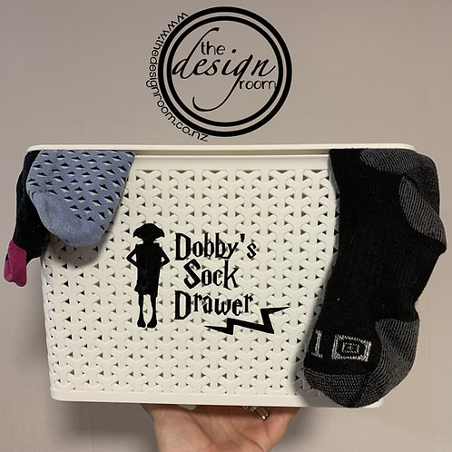 Dobby's Sock Drawer | DECAL ONLY