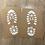 Thumbnail: Santa shoe print stencil