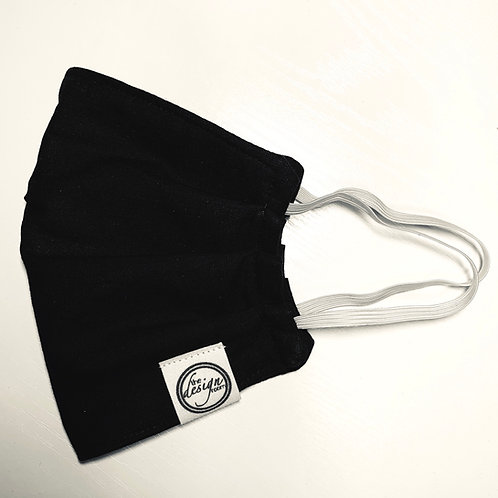 3 LAYER COTTON MASK | Black