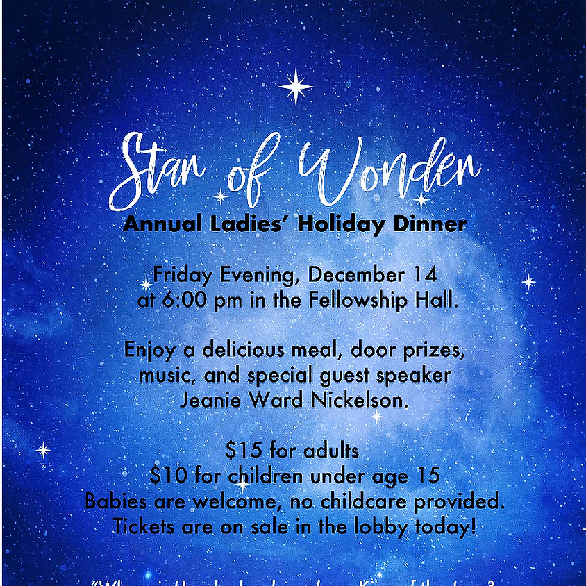 Annual Ladies' Holiday Dinner