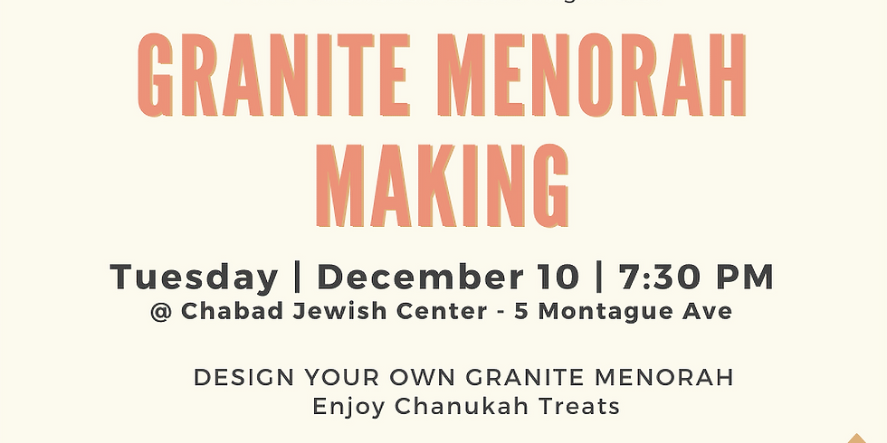 Granite Menorah Making